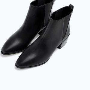 Zara leather Chelsea boots